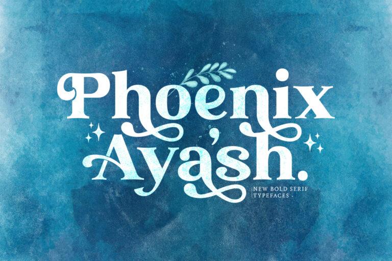 Preview image of Phoenix Ayash – Bold Serif Font
