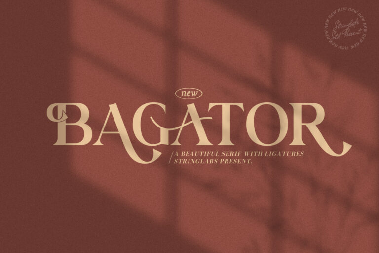 Preview image of Bagator – Classic Serif Font