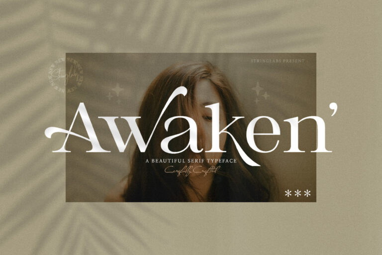 Preview image of Awaken – Casual Serif Font