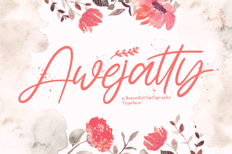 Preview image of Awejatty – Handwritten Font