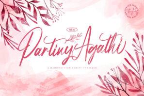 Partiny Agathi - Handwritten Font