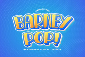 Barney Pop - Playful Display Font