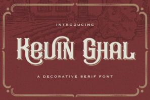 Kevin Ghal - Victorian Style Font