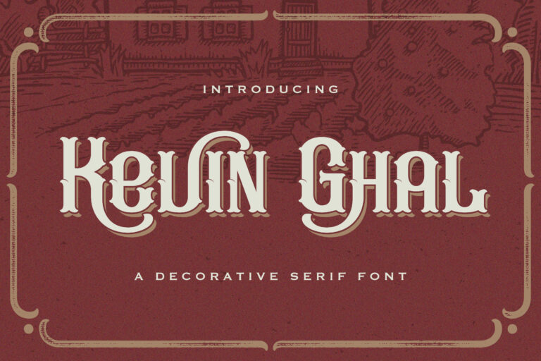 Preview image of Kevin Ghal – Victorian Style Font