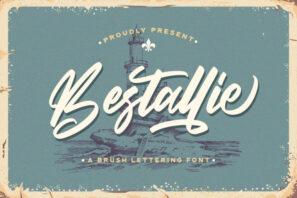 Bestallie - Bold Script Font