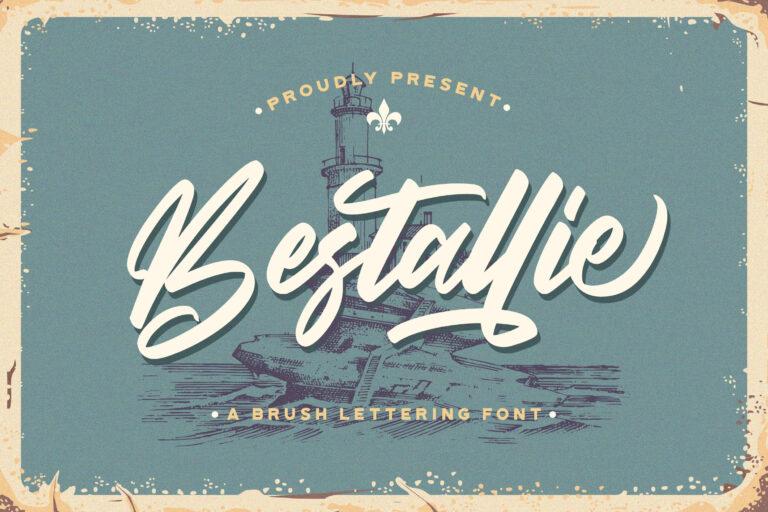 Preview image of Bestallie – Bold Script Font