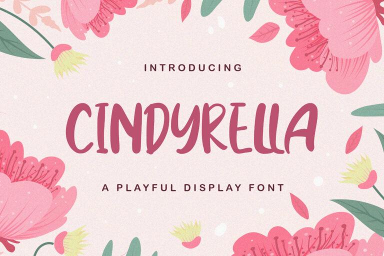 Preview image of Cindyrella – Playful Display Font