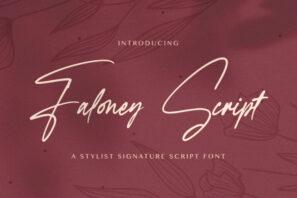 Faloney Script - Handwritten Font