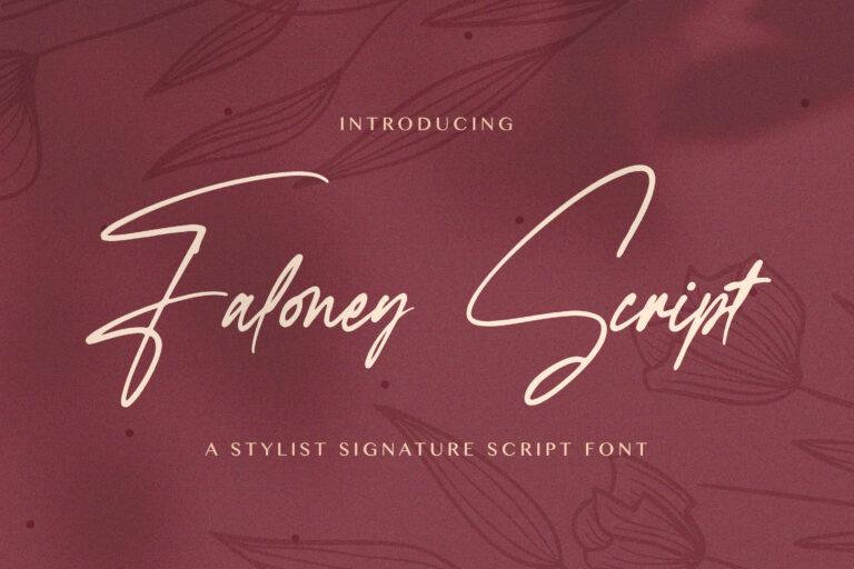 Preview image of Faloney Script – Handwritten Font