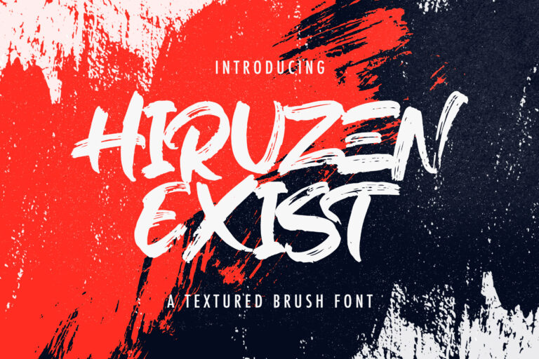 Preview image of Hiruzen Exists – Textured Brush Font