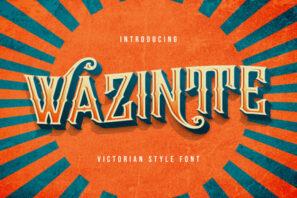 Wazintte - Victorian Style Font