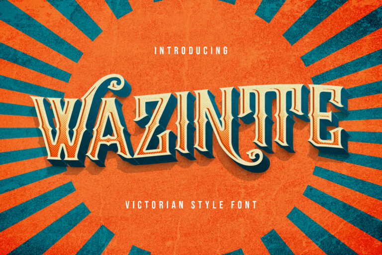 Preview image of Wazintte – Victorian Style Font