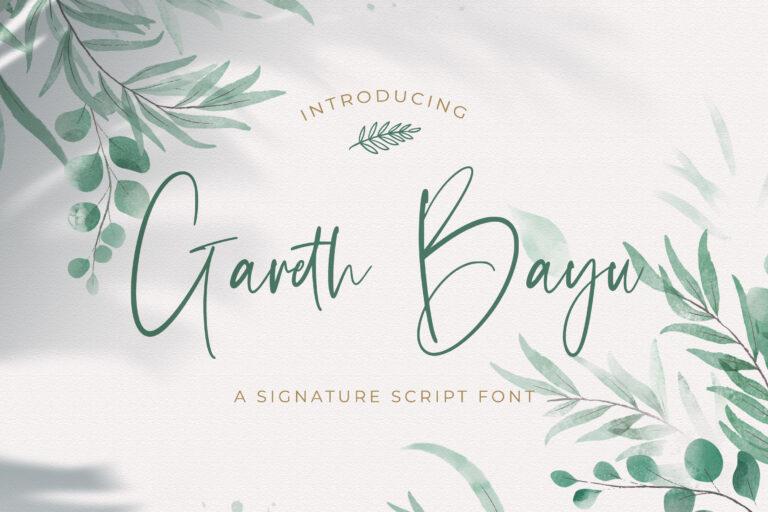 Preview image of Gareth Bayu – Handwritten Font