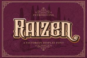 Raizen - Victorian Style Font