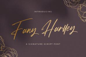 Fany Harlley - Handwritten Font