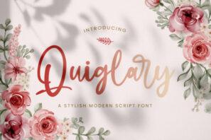 Quiglary - Handwritten Font