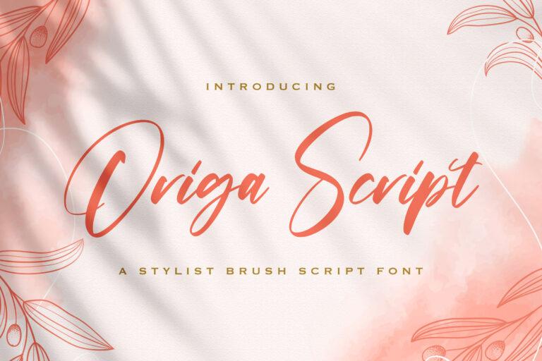 Preview image of Origa Script – Handwritten Font