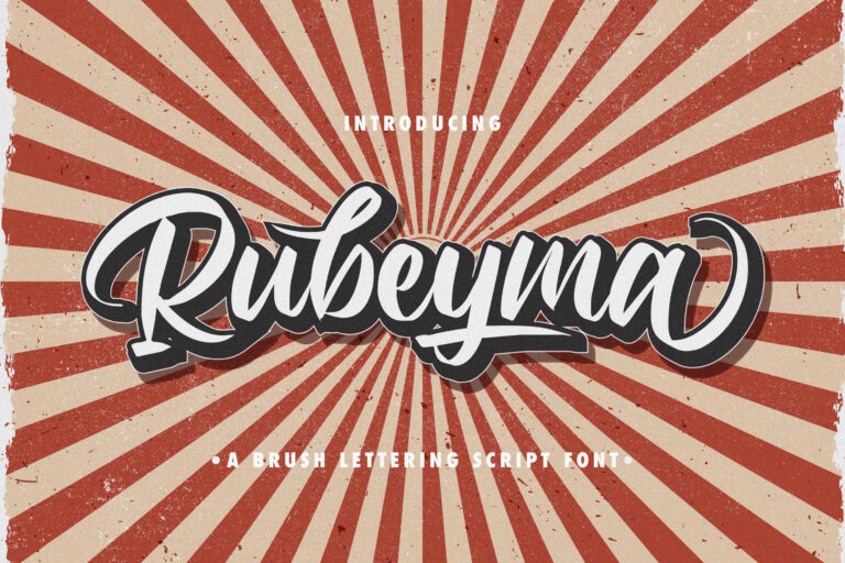 Preview image of Rubeyma – Bold Script Font