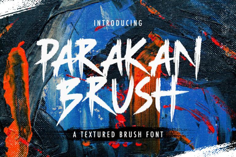 Preview image of Parakan Brush – Brush Display Font