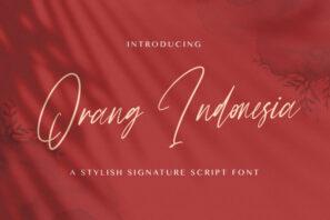 Orang Indonesia - Handwritten Font