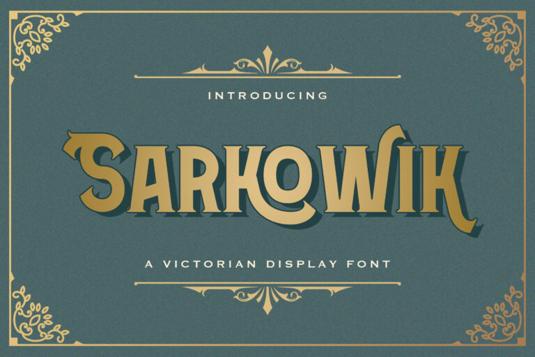 Preview image of Sarkowik – Victorian Style Font