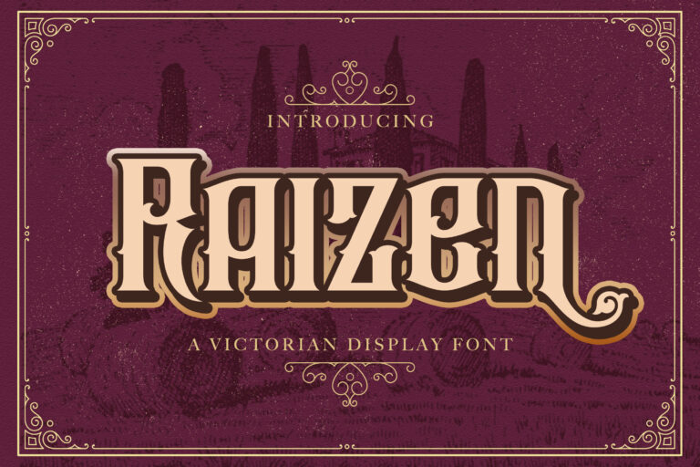 Preview image of Raizen – Victorian Style Font