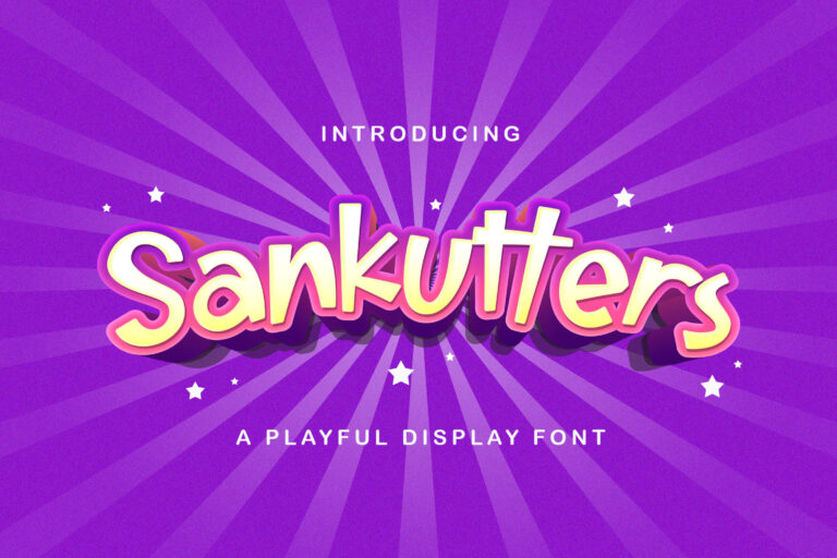 Preview image of Sankutters – Playful Display Font