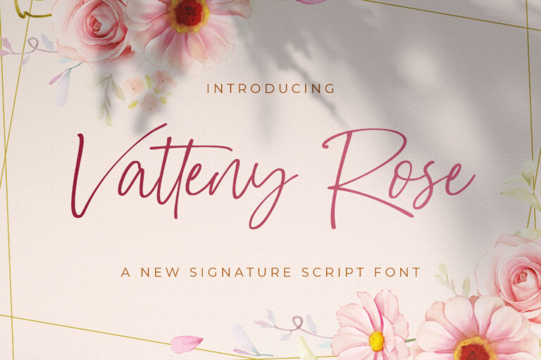Preview image of Vatteny Rose – Signature Script Font