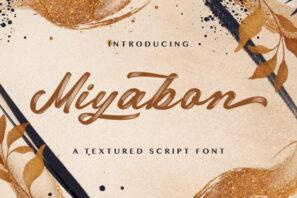 Miyabon - Textured Brush Font