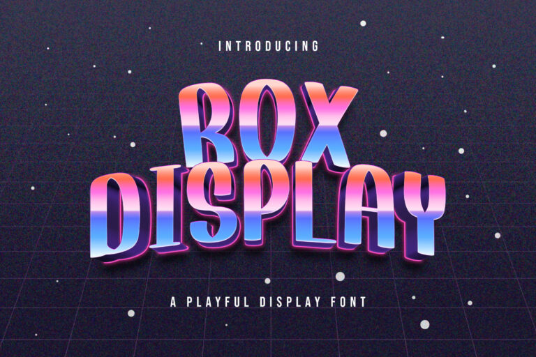 Preview image of Rox Display – Playful Display Font