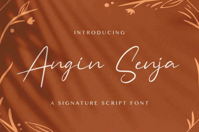Preview image of Angin Senja – Handwritten Font