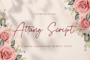 Attang Script - Handwritten Font