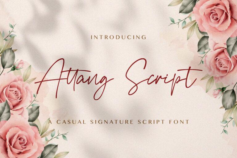 Preview image of Attang Script – Handwritten Font