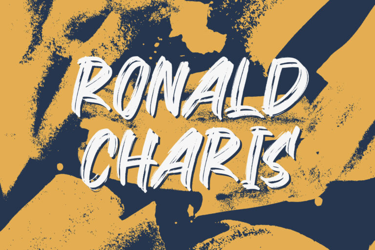 Preview image of Ronald Charis – Textured Brush Font
