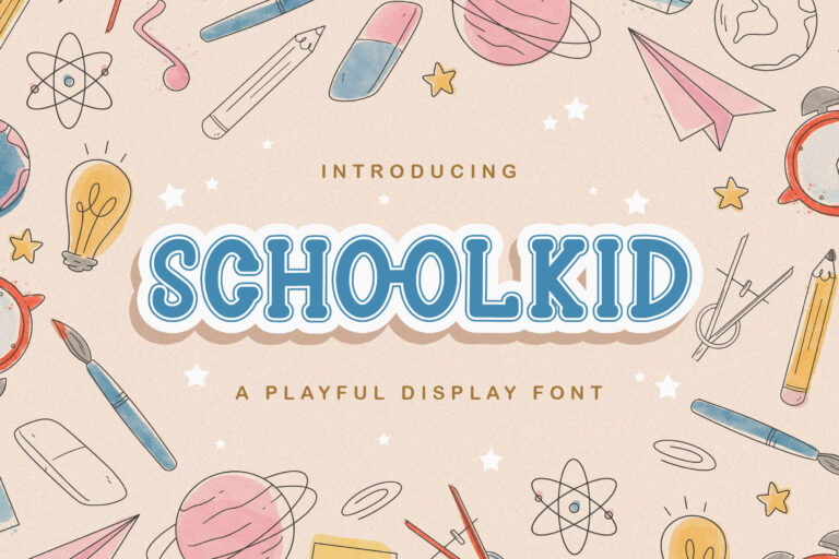 Preview image of Schoolkid – Playful Display Font