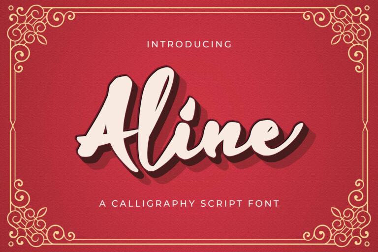 Preview image of Aline – Handwritten Font
