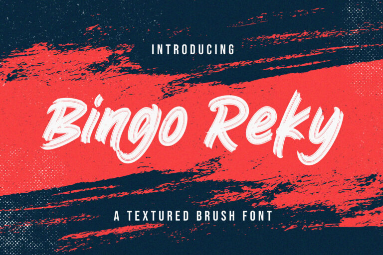 Preview image of Bingo Reky – Textured Brush Font