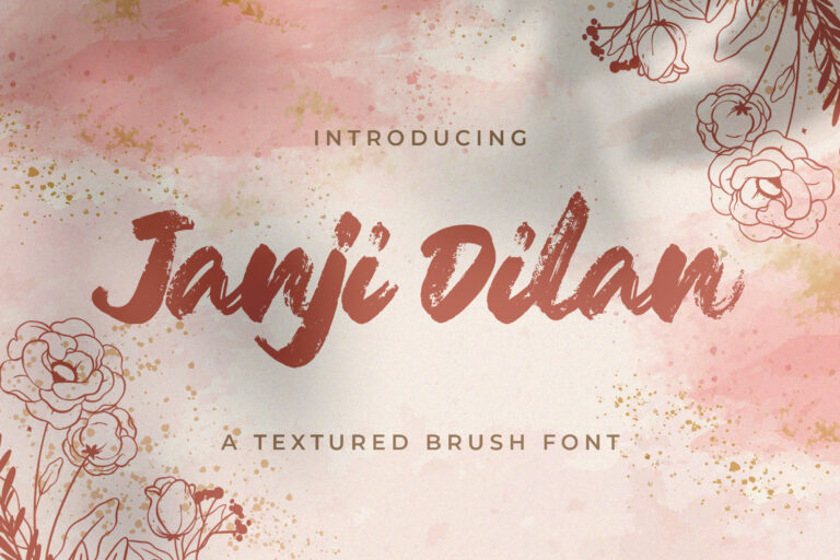 Preview image of Janji Dilan – Textured Brush Font