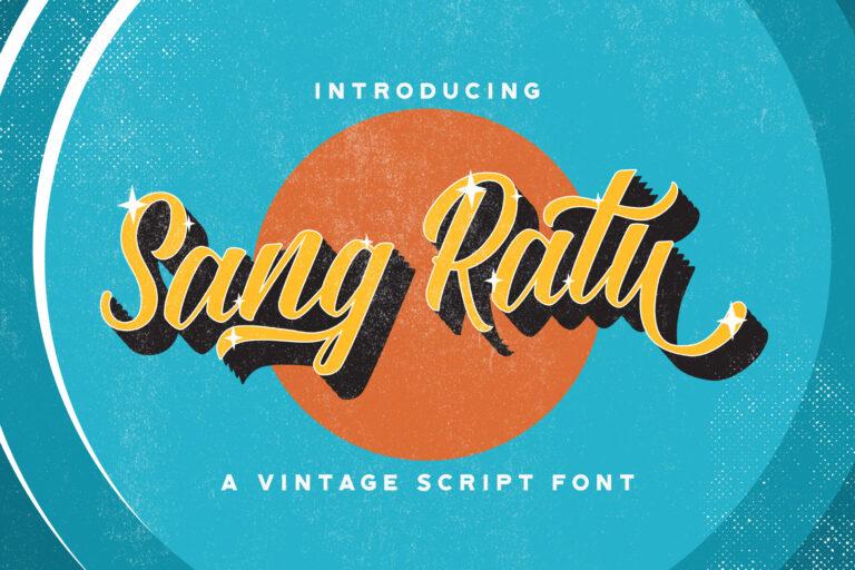 Preview image of Sang Ratu – Vintage Script Font