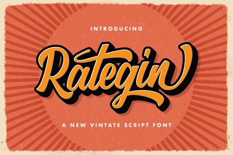 Preview image of Rategin – Vintage Script Font