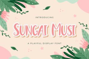 Sungai Musi - Playful Display Font