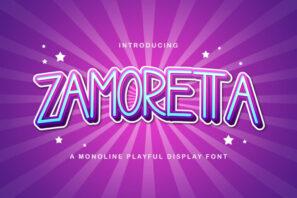 Zamoretta - Playful Display Font