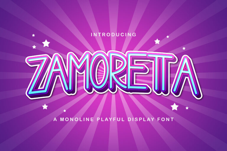 Preview image of Zamoretta – Playful Display Font