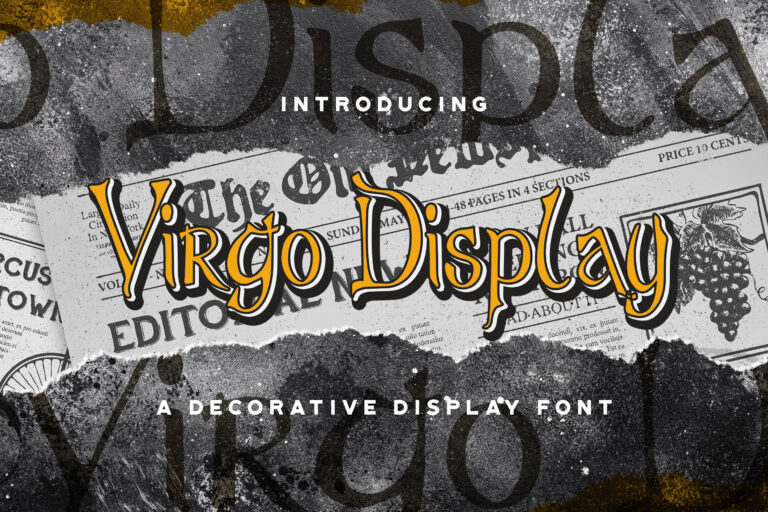 Preview image of Virgo Display – Haunted Display Font