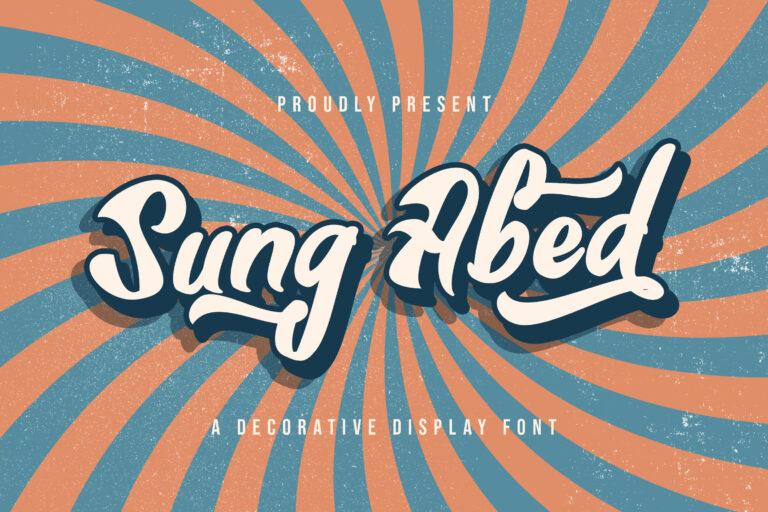 Preview image of Sung Abed – Decorative Display Font