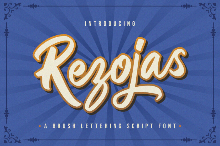 Preview image of Rezojas – Bold Script Font
