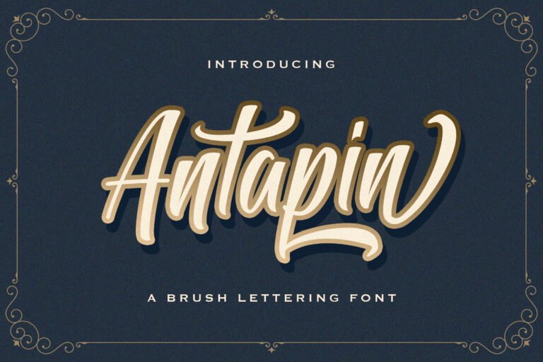 Preview image of Antapin – Bold Script Font