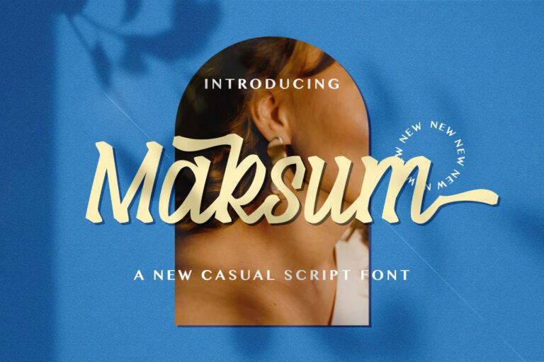 Preview image of Maksum – Handwritten Font