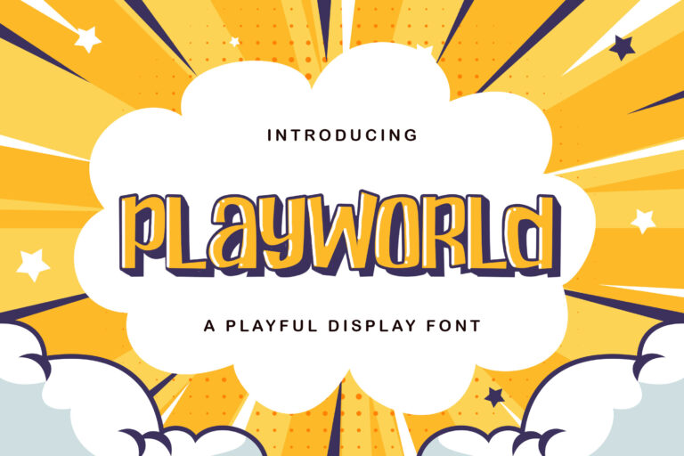 Preview image of Playworld – Playful Display Font