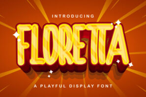 FLORETTA - Playful Display Font